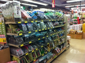One of the seaweed aisles in the Asian market